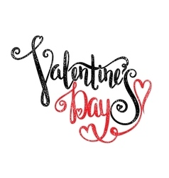 Calligraphic inscription Valentines Day vector image vector image