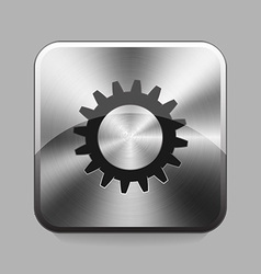 Chrome button vector image vector image