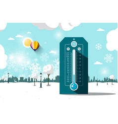 Cold weather symbol frozen park flat design vector