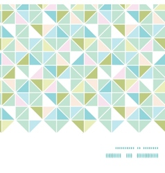 Colorful pastel triangle texture horizontal frame vector