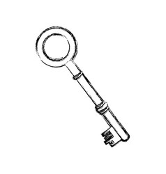 Contour old key icon stock vector