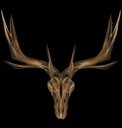 Elk bone mesh vector