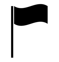 Flag the black color icon vector