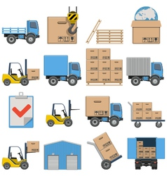 Flat icons shipping vector