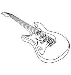 Guitar ink sketch vector