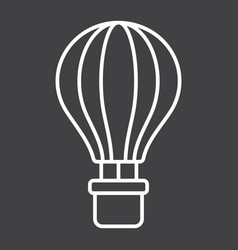 hot air balloon line icon transport and air vector image