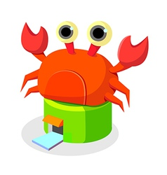 icon crab restaurant vector image