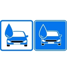 Icon with drop and car vector