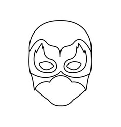 Monochrome contour of faceless man superhero vector