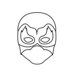 Monochrome contour of faceless man superhero vector