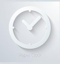 Paper Clock Watch Icon vector image