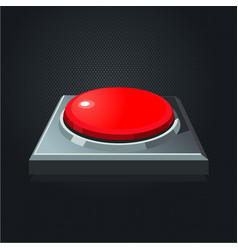 Realistic red button interface element vector