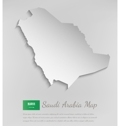 Saudi Arabia map with shadow effect vector image vector image