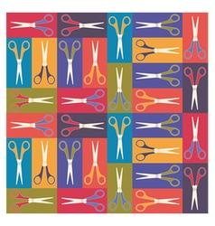 Scissors pattern 1 vector