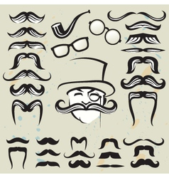 Set of mustaches vector