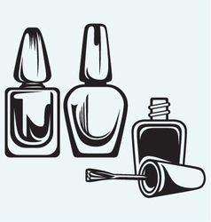 Set of nail polish vector