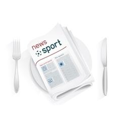 sport news tablewares vector image