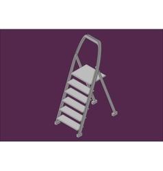 Step ladder isometric flat vector