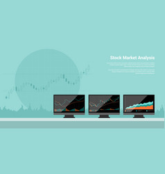 Stock market analysis vector