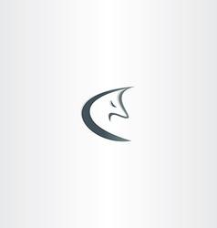 stylized wolf logo icon vector image
