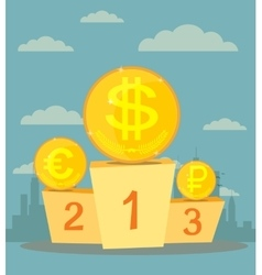 The currency exchange dollar euro ruble icon vector image