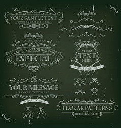 Vintage old labels banners and frame vector