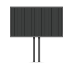 Blank urban advertising board template past your vector