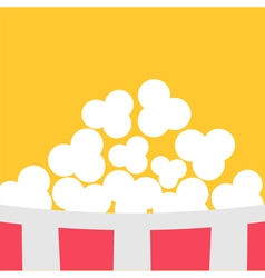 Super big popcorn red white strip box cinema icon vector