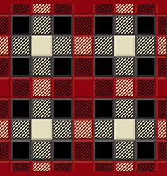 3d lumberjack tartan seamless patter vector image
