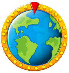 game board with earth in middle vector image