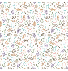 food and drinks seamless pattern design - seamless vector image