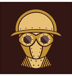 Steampunk - vintage character design - goggles vector