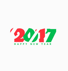 2017 abstract text in red and green text vector image vector image