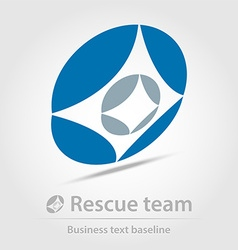 Rescue team business icon vector