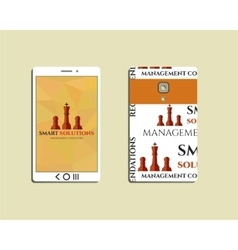 Flat Mobile device and smart phone Chess Smart vector image