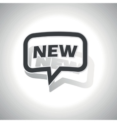Curved new message icon vector
