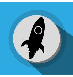 Spaceship launch icon vector