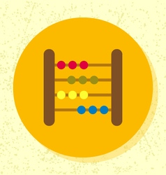 Round flat design abacus toy icon vector