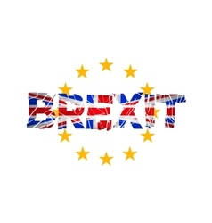 Brexit Flags of the United Kingdom and the vector image