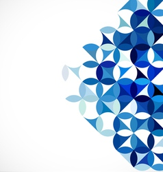 Abstract blue geometric concept and blank for text vector