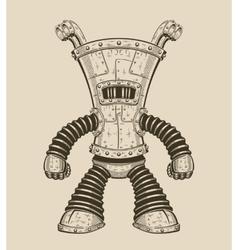 an funny iron robot vector image vector image