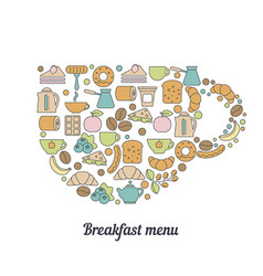 Breakfast background vector