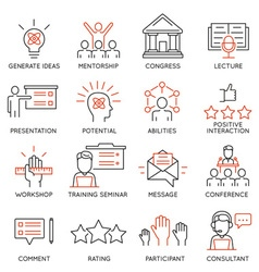 Business people training icons vector