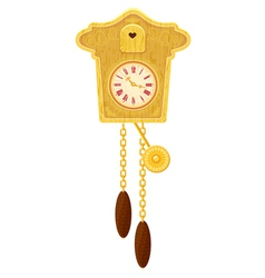 clock gold 380 vector image vector image