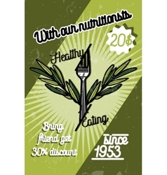 Color vintage nutritionist poster vector