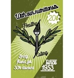 Color vintage nutritionist poster vector image