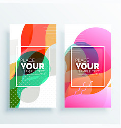 Creative colorful abstract banners set vector