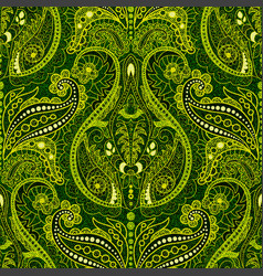 Dark paisley seamless pattern original colorful vector