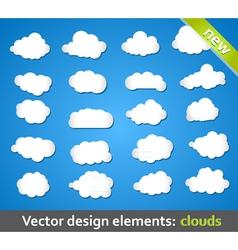 Design Elements Clouds vector image vector image