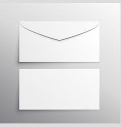 Envelope front and back mockup template vector